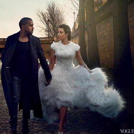 kim-kardashian-and-kanye-west-vogue-magazine-fluffy-wedding-dress